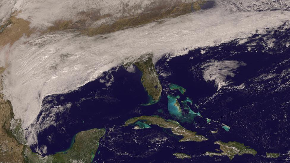 Satellite observations and computer modelling mean weather forecasts are better, though it's still impossible to forecast weeks in advance (Nasa)