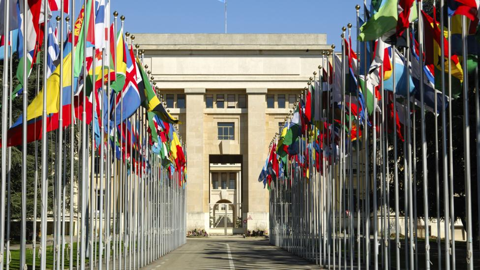 Business travellers flock to Geneva because of the extensive presence of international organisations, such as the United Nations Office at Geneva. (MyLoupe/Getty)
