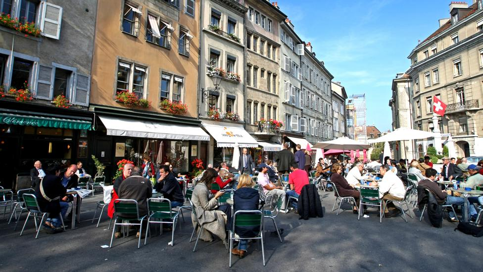 Like other European cities, Geneva has an outdoor food culture. (Getty)