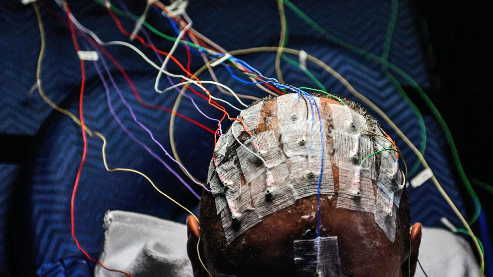 In non-military experiments, monitoring electrical activity in the brain using electrodes has been used to measure pilot alertness (Getty Images)
