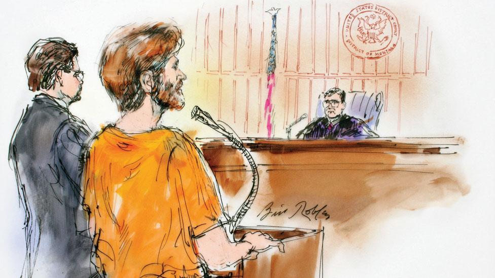Ted Kaczynski, 'The Unabomber' (Illustration Bill Robles/CBS News)