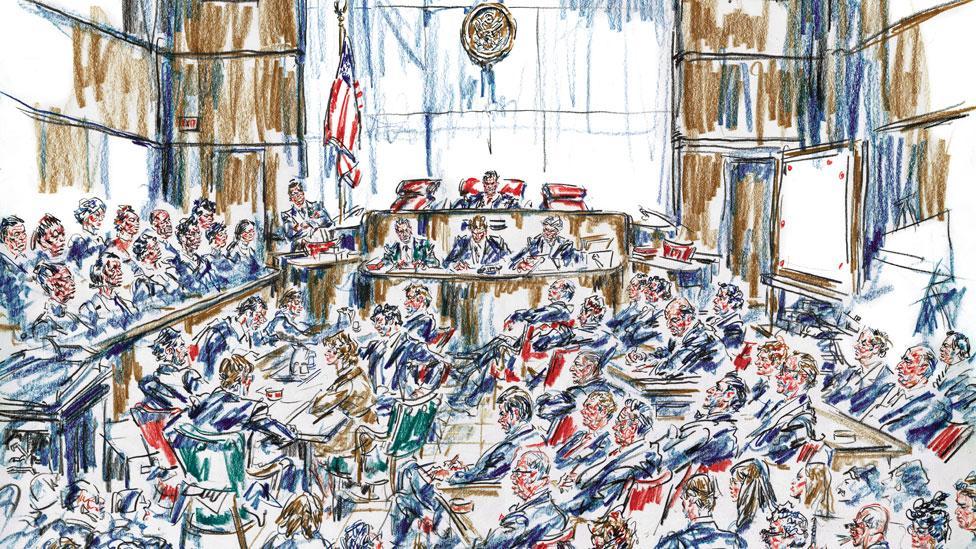 Watergate (Illustration by Howard Brodie. Copyright estate of Howard Brodie)