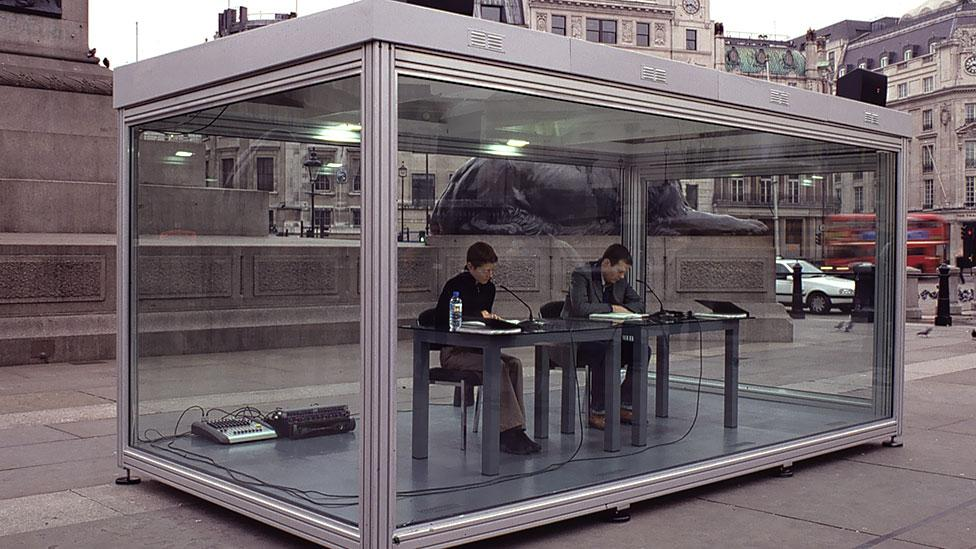 Reading One Million Years (Past and Future) installed in Trafalgar Square, London in 2004 (David Zwirner, New York/London / Marcus Leith)