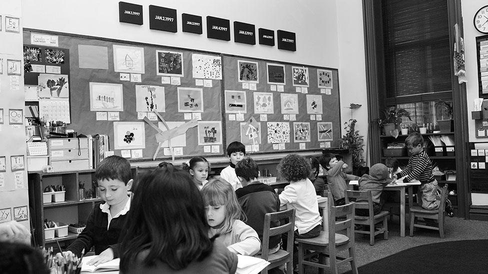 An installation view, where works from the Today series were hung in kindergartens (David Zwirner, New York/London / Brad Harris)