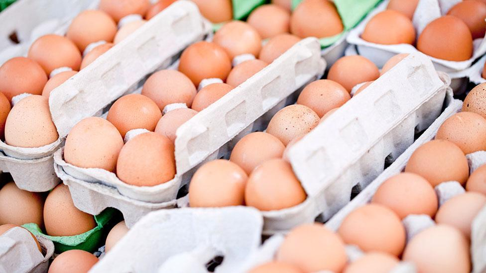 Staples like eggs are rarely placed prominently on the shelves - you have to seek them out (Thinkstock)