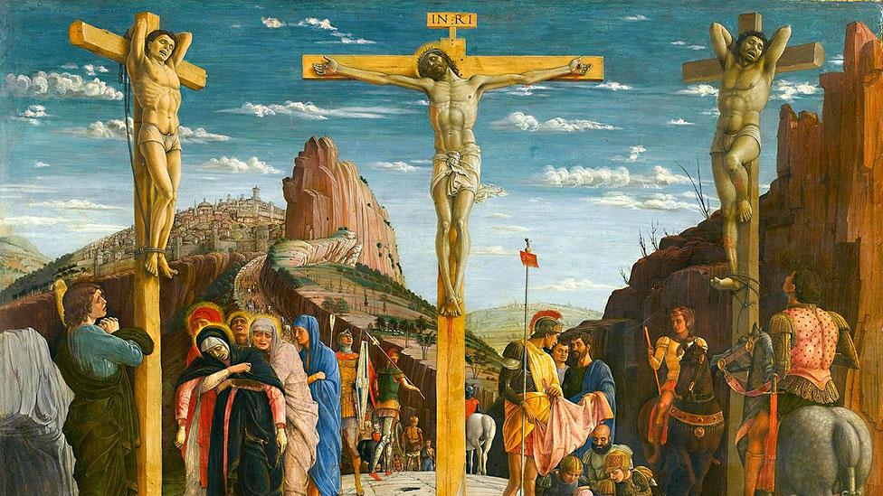 Andrea Mantegna's blunt and forceful Crucifixion from 1456–59 (Andrea Mantegna)