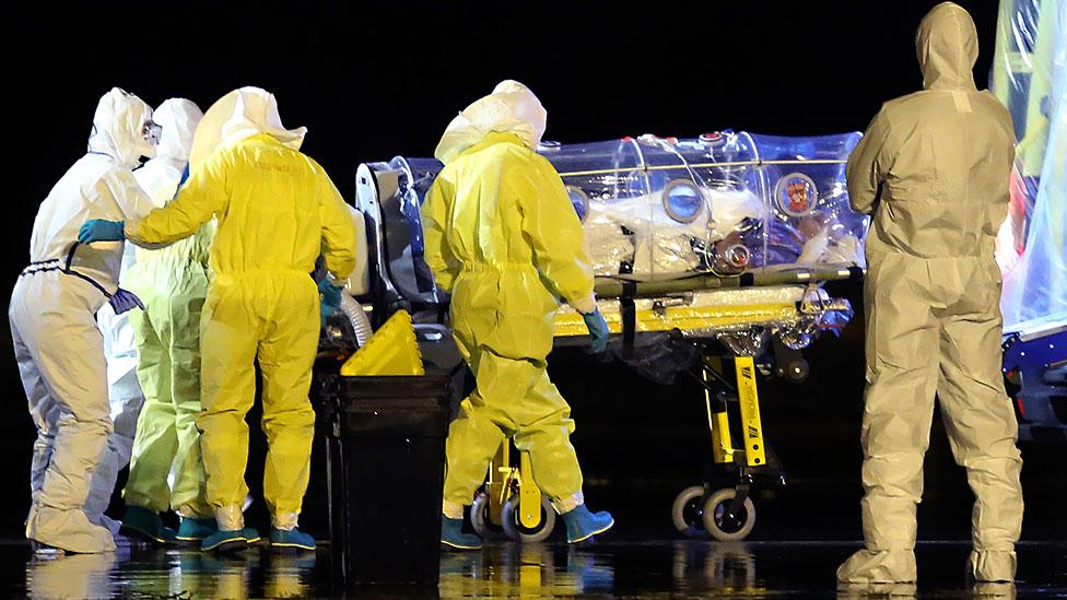 Could we diagnose Ebola differently? (AP Photo/Spanish Defense Ministry)