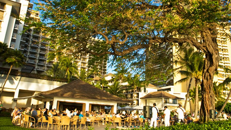 Halekulani Hotel, a favourite of business travellers, offers free wireless and art museum tickets. (Ann Cecil/Getty Images)