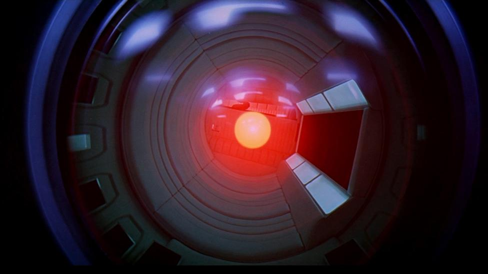 2001: A Space Odyssey showed the risks in placing too much trust in computers like HAL (MGM)