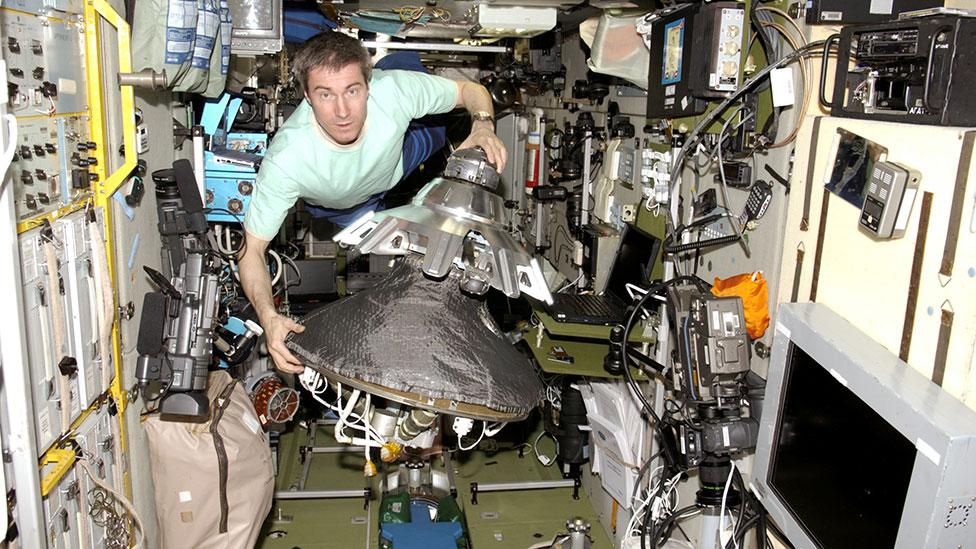 Russian cosmonaut Sergei Krikalev is a fraction of a second younger because of the amount of time he spent in space (Nasa)