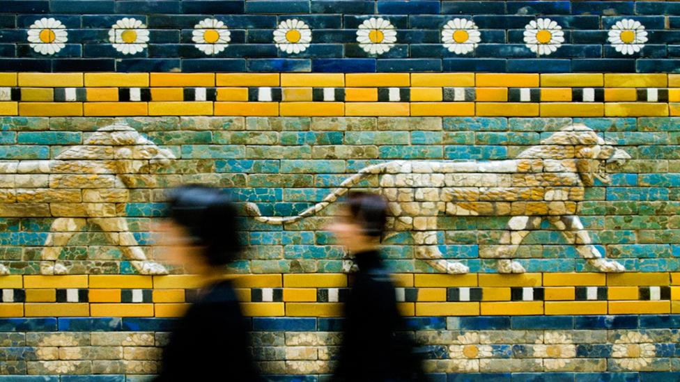 Ceramic lions, aurochs and dragons decorate the Great Gate of Ishtar (Alamy)