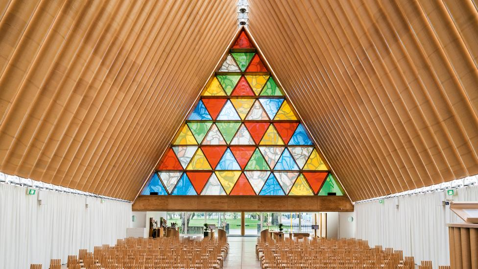 Cardboard Cathedral, New Zealand, designed by Shigeru Ban (Credit: Steven Goodenough)