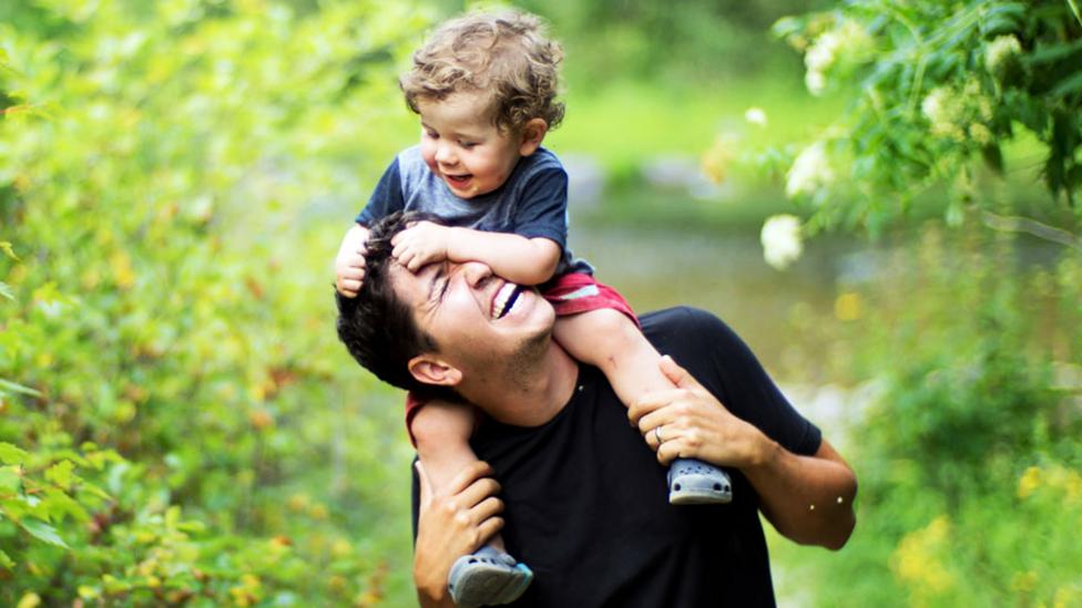 Ross Williams with his son, Everett, in Queenstown, New Zealand. (Credit: Ross Williams)