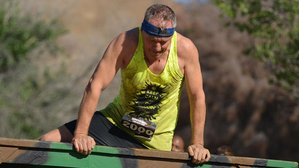 The author used his down time to compete in an obstacle race. (Credit: Copyright Souvenir Photograph)