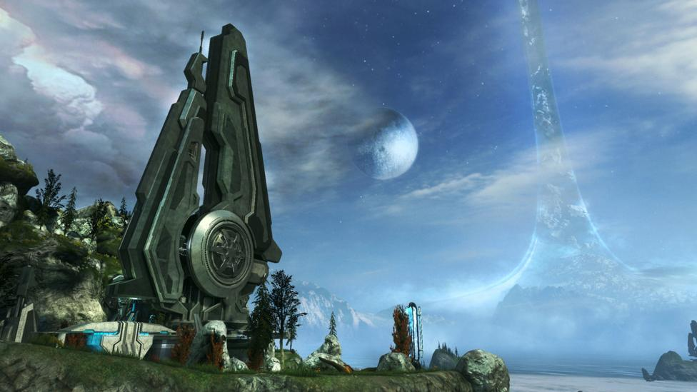In the computer game series Halo, much of the action take place on ring worlds (Credit: Microsoft)