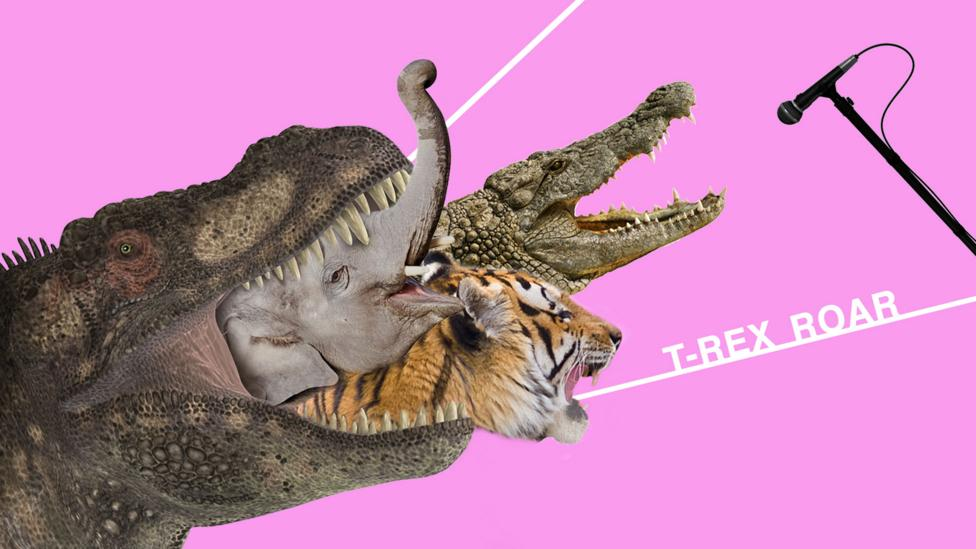 The T-Rex roar was made with myriad animal sounds (Credit: Olivia Howitt)
