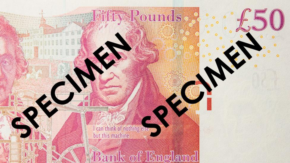 Here, the EURion appears on a £50 note (Credit: BBCW)