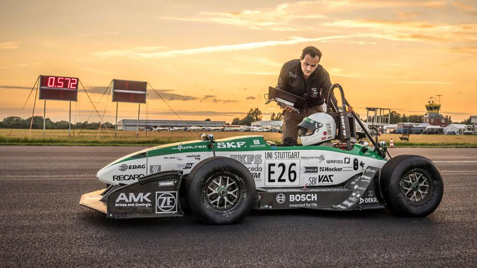 Even green-energy cars are getting race-circuit fast; but humanity will have to get a lot faster to explore the Universe (Credit: Stuttgart Green Team)