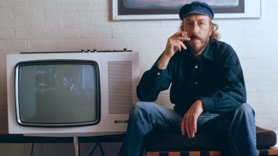 Richard Hamilton drew on the iconography of popular culture to set the mould for British Pop Art (Credit: Getty Images)