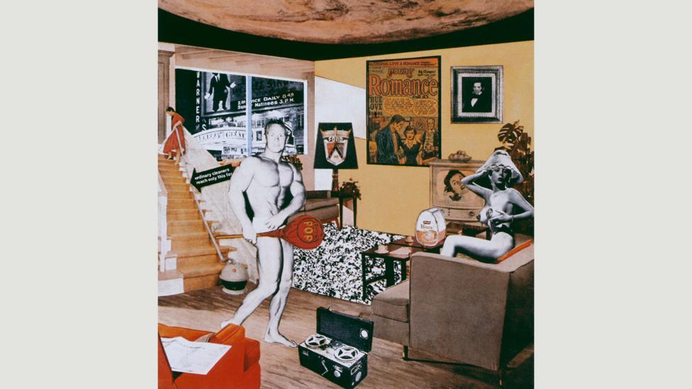Richard Hamilton's collage from 1956 prefigures Pop Art's concerns (Credit: Richard, Hamilton, Tate, London)