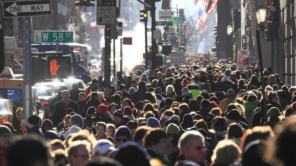 Life in Manhattan is overcrowded but well-connected to services (Credit: Getty Images)