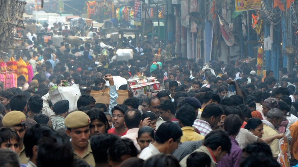When in Delhi, it can be hard to fathom the idea that the world will become more populated (Credit: Getty Images)