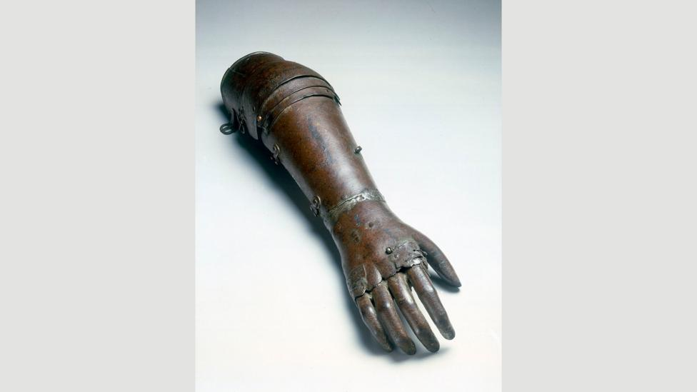 Medieval artificial limbs allowed amputees to continue their fighting careers (Credit: Science Museum London / Science and Society Picture Library CC BY 2.0/Wikimedia)