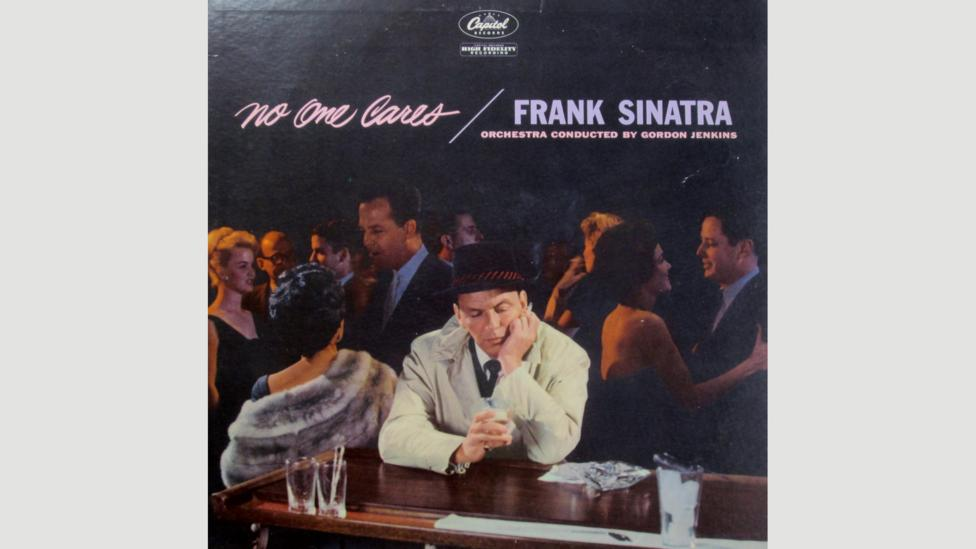 Many of Sinatra's best albums have a dark tinge to them and collect songs about loneliness and heartbreak, such as No One Cares from 1959 (Credit: Capitol Records)
