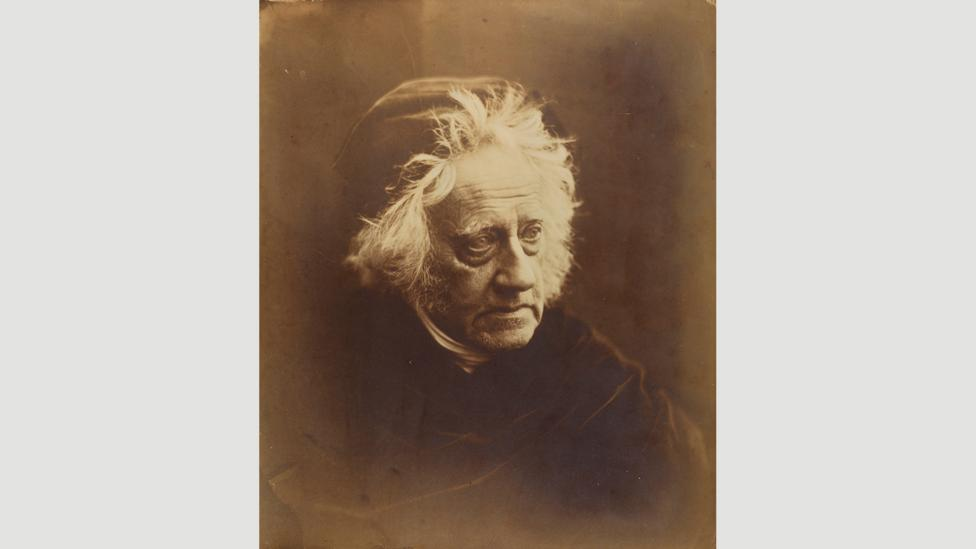 Cameron's portrait of Sir John Herschel shows him looking weary and dishevelled (Credit: National Media Museum, Bradford)