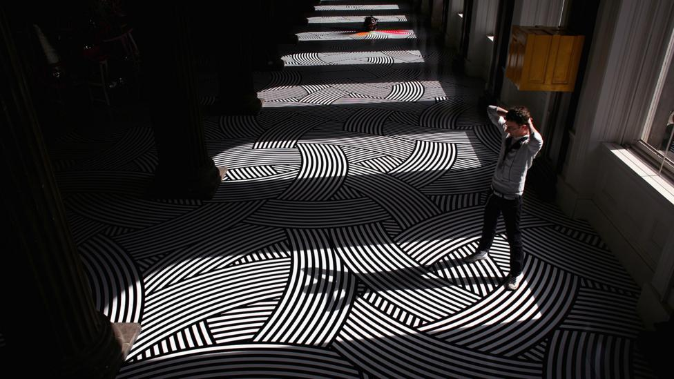 Jim Lambie's artwork at the Gallery of Modern Art in Glasgow (Credit: Jeff J Mitchell/Getty Images)