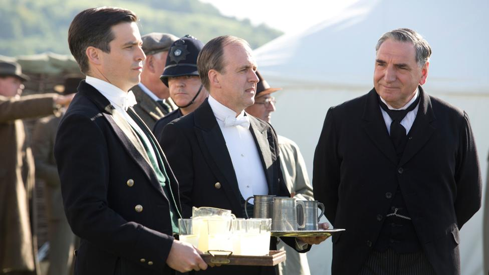 Downton Abbey's runaway popularity may have given a boost to the butler profession (Credit: ITV)