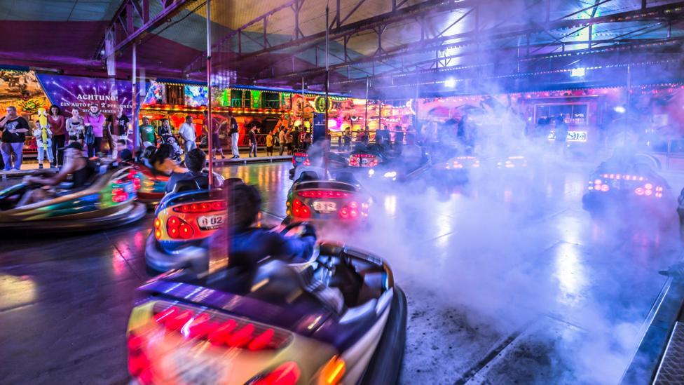 Bumper cars at a fairground in Malaga, Spain (Credit: Alamy)