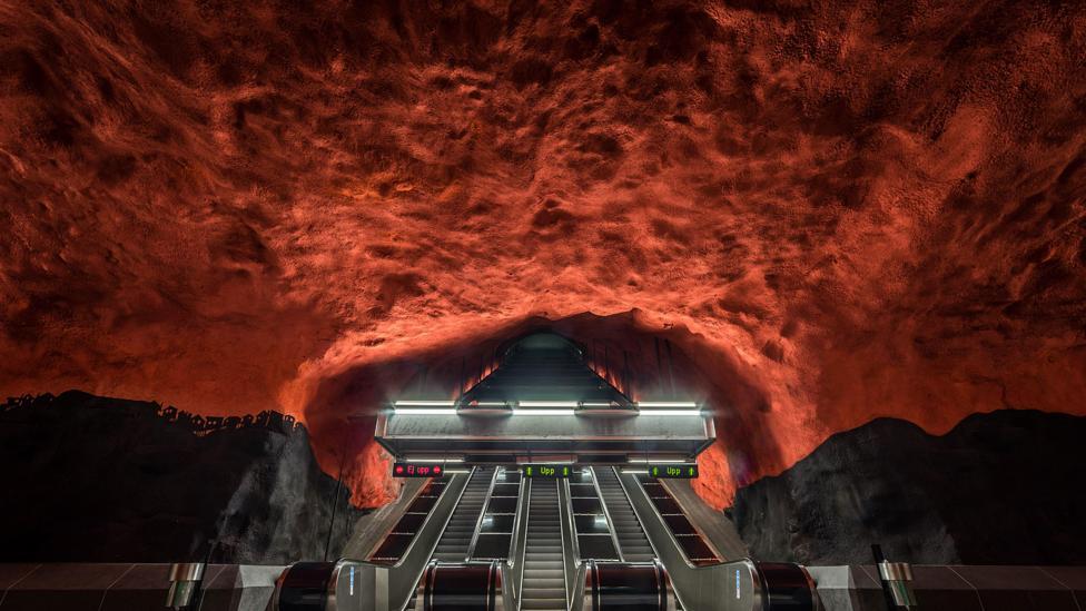 Solna Centrum Metro Station, Stockholm