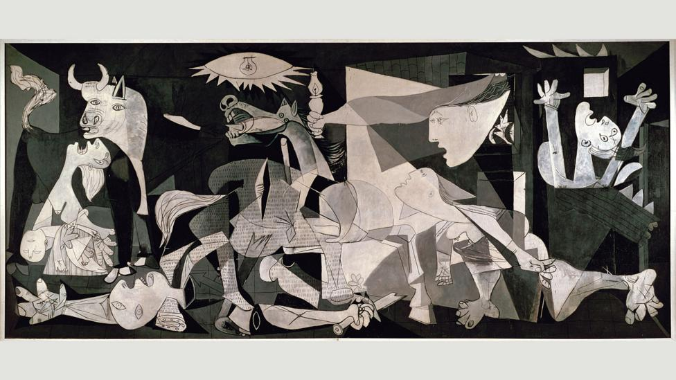 It was deemed too risky for George W Bush to be pictured in front of Picasso's Guernica when pressing for war against Iraq (Credit: Guernica, 1937, Pablo Picasso)
