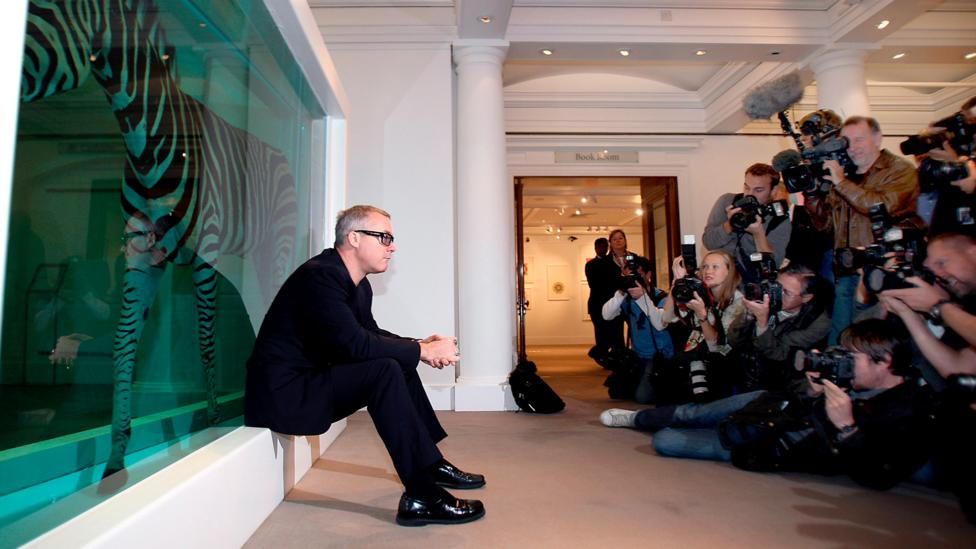Damien Hirst, shown here 20 years after Freeze, went on to become one of the world's most famous contemporary artists (Credit: epa european press photo agency b.v./Alamy)