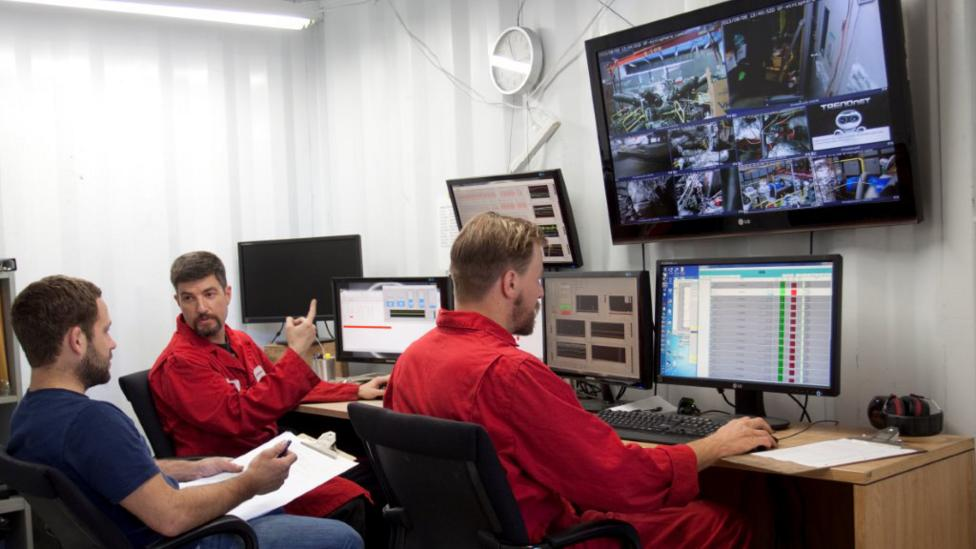 Workers monitor tests at General Fusion - there have been thousands already (Credit: General Fusion)