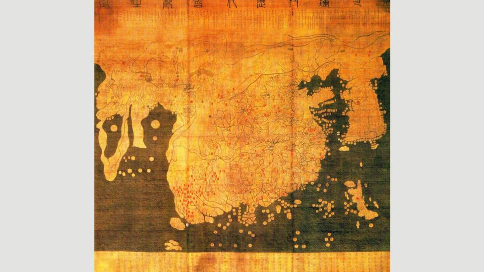 The Kangnido map, a Chinese-influenced Korean map from 1402 (Credit: Wikipedia)