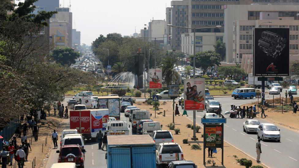 Cairo Road cuts through downtown Lusaka, the capital of Zambia (Credit: Alamy)