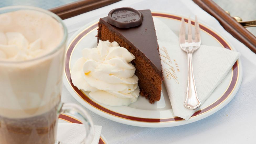 The famous Sachertorte chocolate cake, a big part of café culture across Vienna (Credit: Doug Scott/ Alamy)