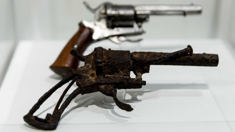 The Van Gogh Museum in Amsterdam displays the weapon with which the painter is supposed to have shot himself (Credit: EPA)