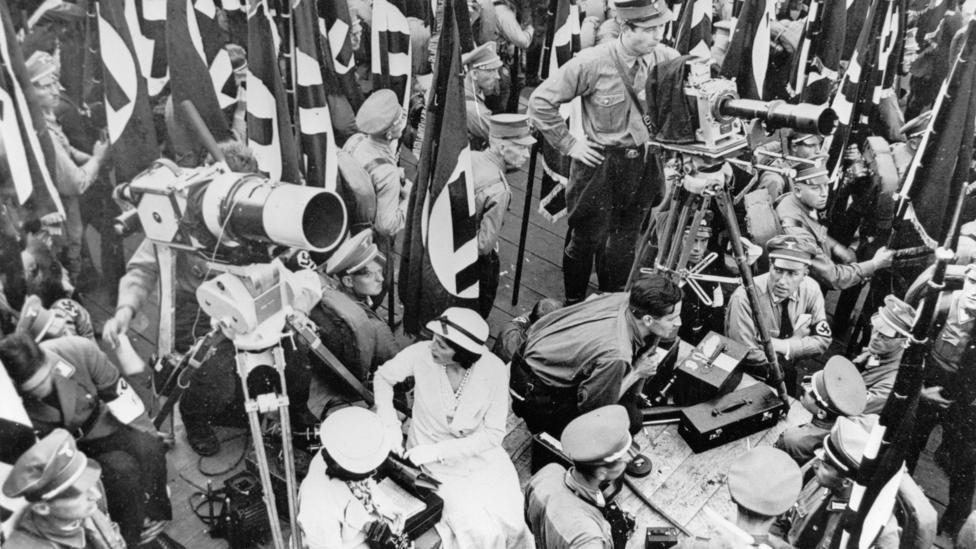 Riefenstahl had impressed Hitler with Triumph of the Will, a documentary of the 1934 Nazi Party Congress in Nuremberg (Credit: Alamy)