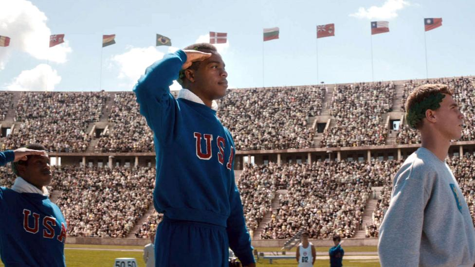 Stephen Hopkins' 2016 film race dramatises moments from the 1936 Berlin Games – including Jesse Owens' victories (Credit: Alamy)