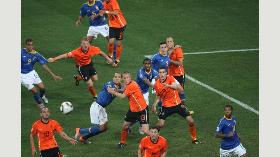 Netherlands v Brazil, 2010 World Cup (Credit: Mark Leech/Offside Sports Photography)
