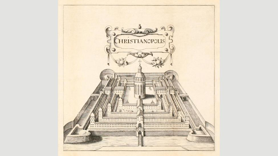 Theologian Johann Valentin Andrea's imagining of the walled utopian city Christianopolis (Credit: AF Fotografie/Alamy)