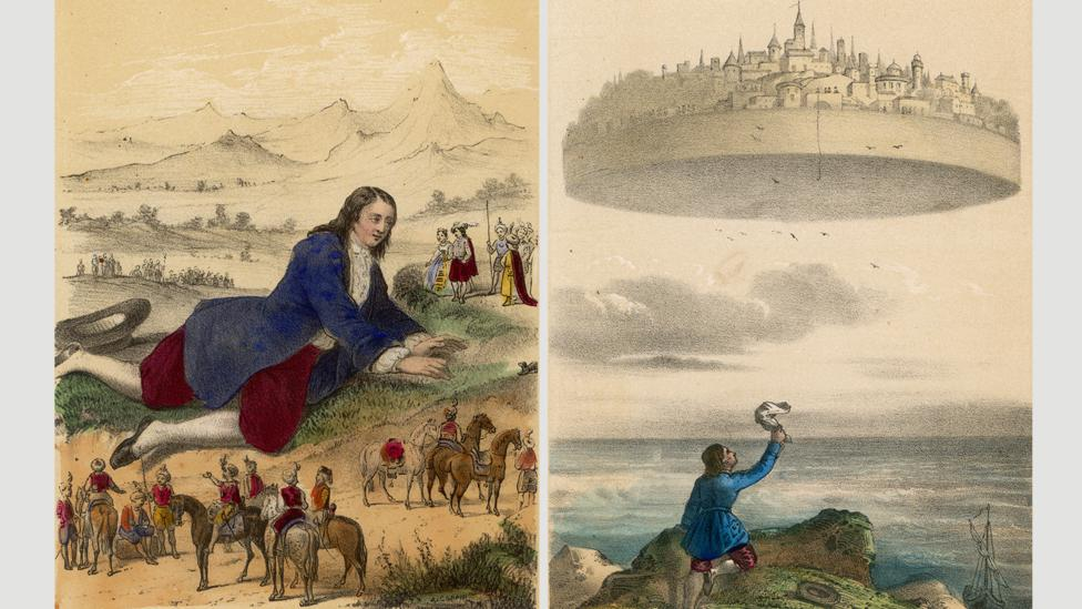Jonathan Swift sends his protagonist around a series of utopias – not all good – in his book Gulliver's Travels (Credit: Mary Evans Picture Library/Alamy)