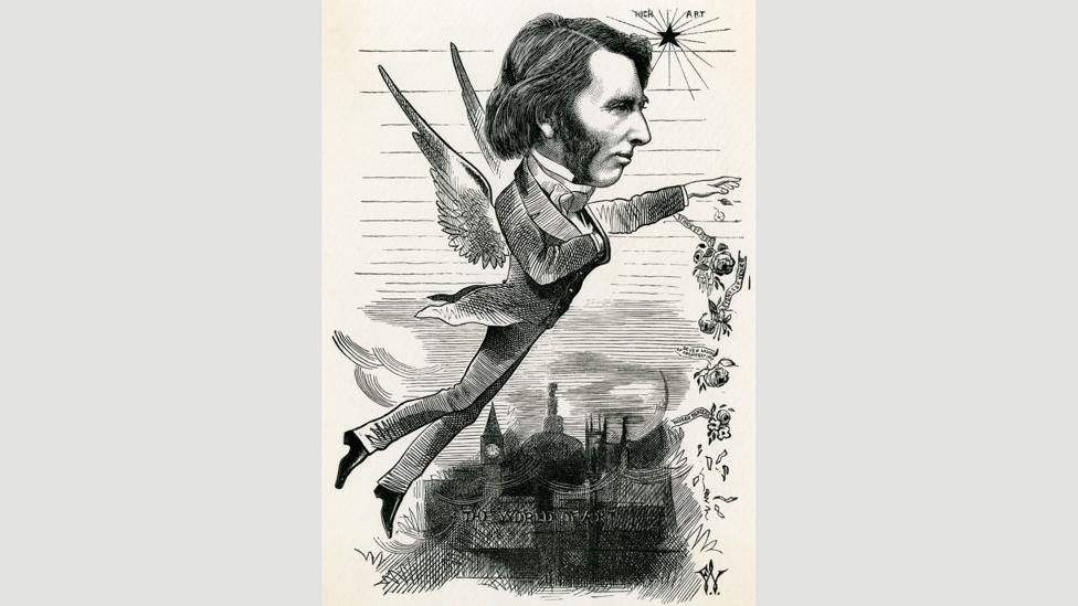In his lifetime, John Ruskin's desire to live an ideal life – one that soared above reality – was often a subject of satire (Credit: Chronicle/Alamy)
