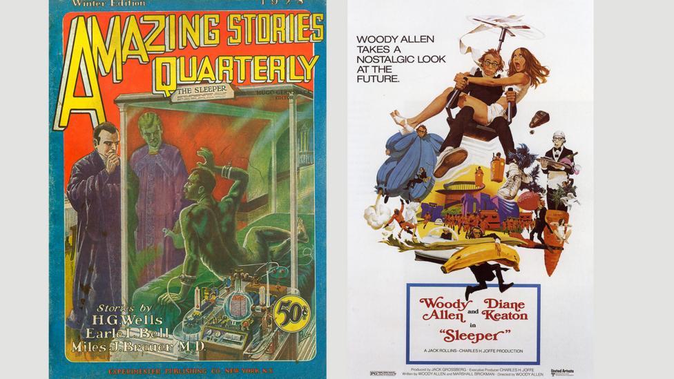 HG Wells's dystopian The Sleeper Awakes was satirised by Woody Allen in his 1973 film Sleeper (Credit: Alamy)