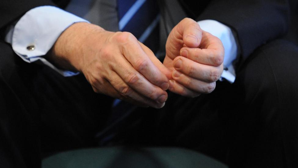 Try to control nervous gestures such as picking your cuticles (Credit: Alamy)