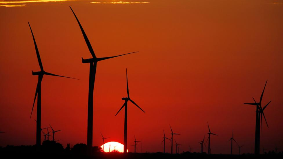 Amazon is investing in wind farms to power its servers (Credit: Getty Images)