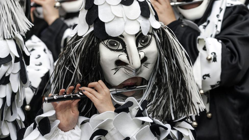 Created in the Italian commedia dell'arte, the Harlequin character took on a different role as pantomime developed in England in the 18th Century (Credit: Shutterstock)